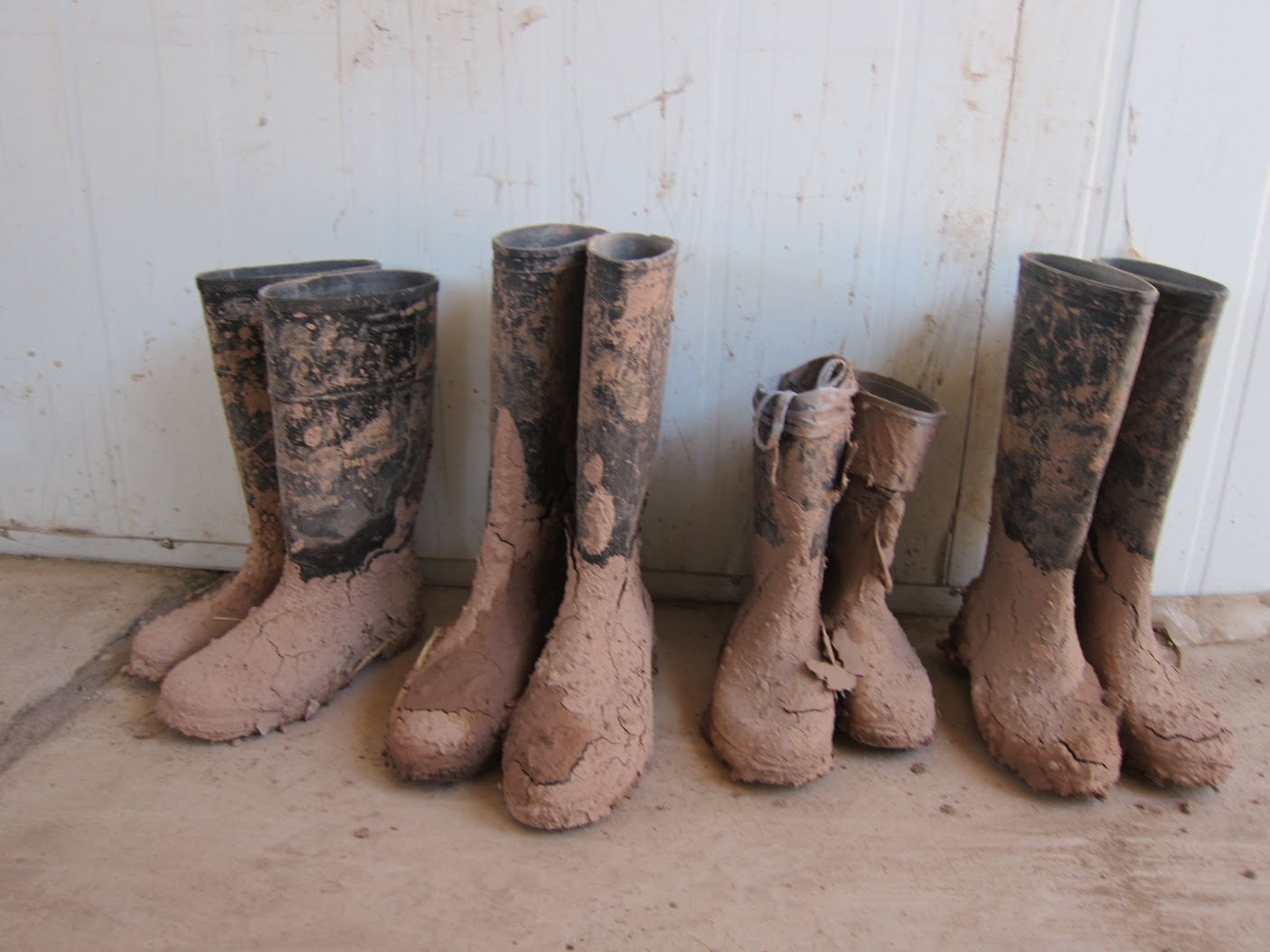 Final picture of the used mud boots