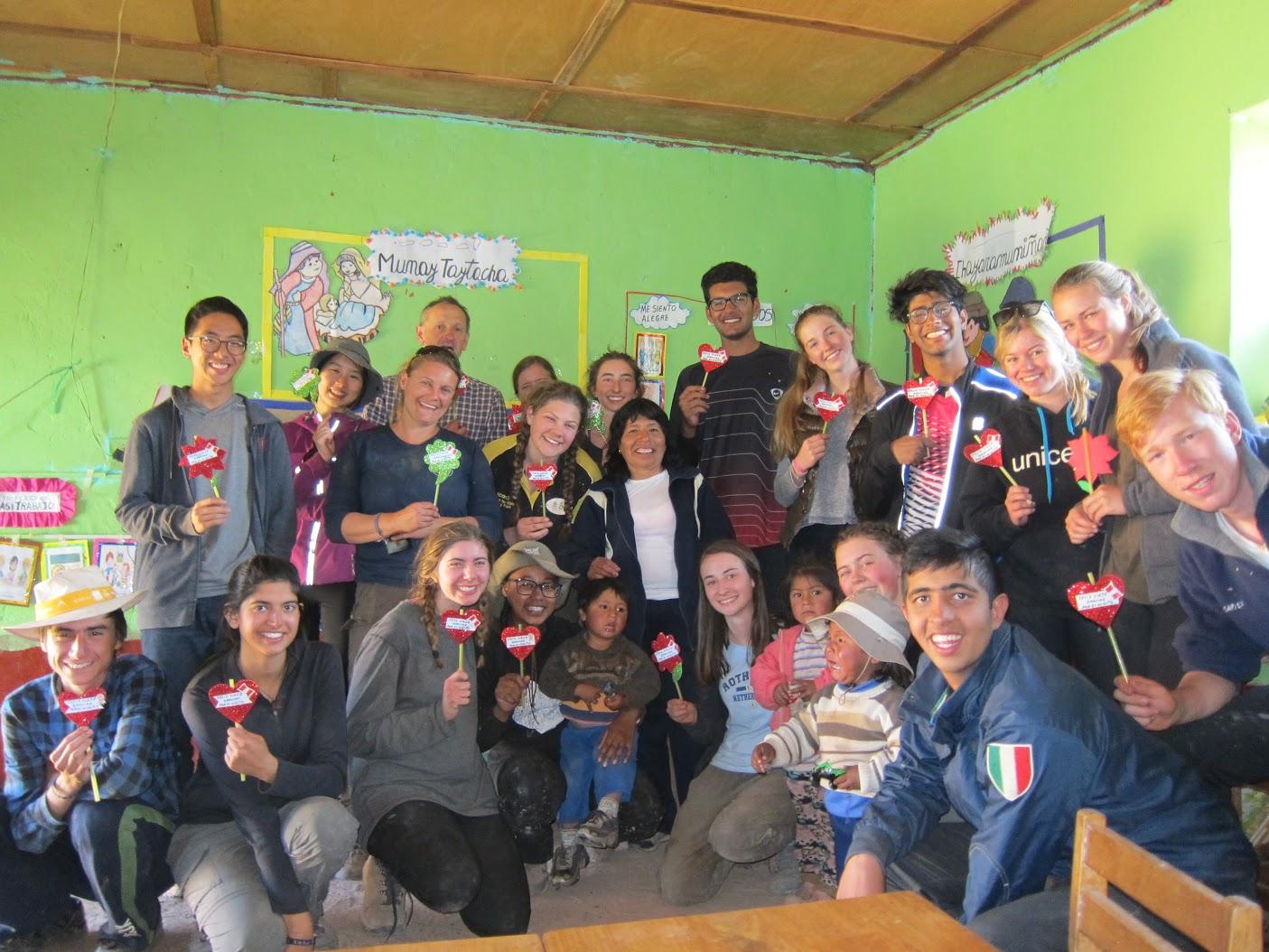 Gift exchange with the local kindergarten children